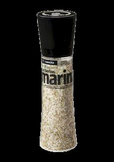 Sůl mořská s bylinkami v mlýnku
